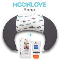 Boho MoonLove כרית הריון והנקה + לנולין משחת הנקה MommyCare