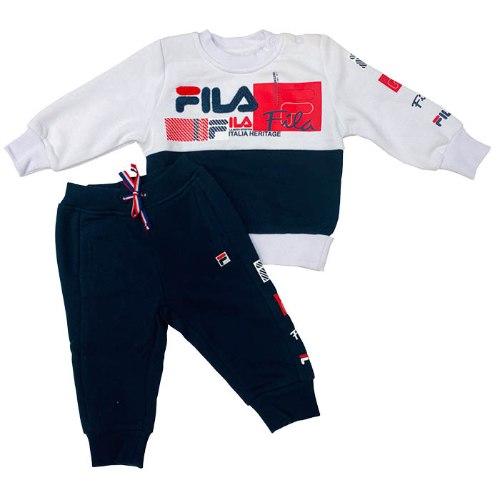 חליפת בייבי פוטר לבן/כחול/אדום FILA -  מידות 6 - 24 חודשים