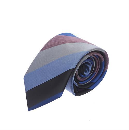עניבה פסים רחבים שחור