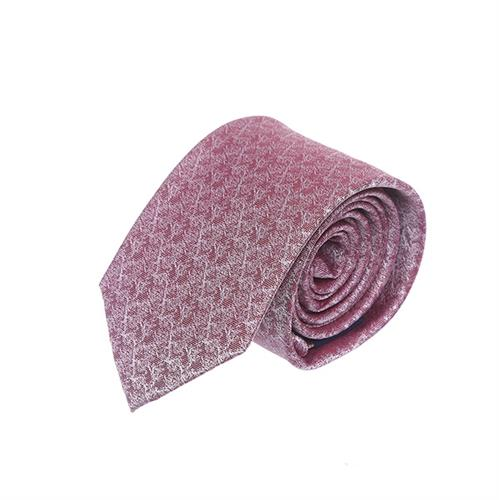 עניבה משולבת בורדו לבן