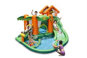 מתקן קפיצה מתנפח רטוב עם מים HappyHop 9364 - טרופיקל Tropical-קפיץ קפוץ