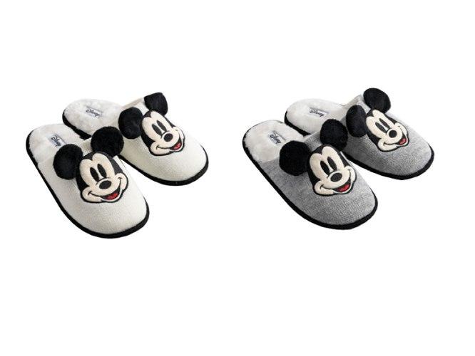 נעלי בית כפכפים מיקי סרוג עם פרווה