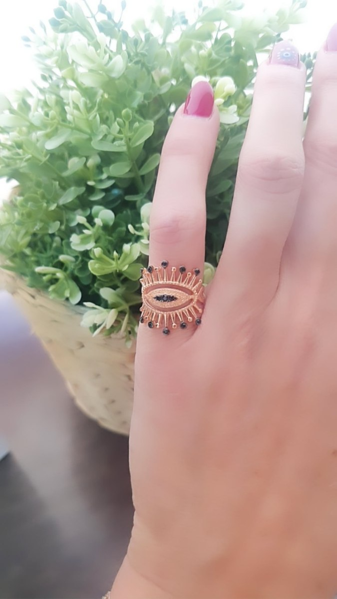 טבעת חותם עין רוזגולד