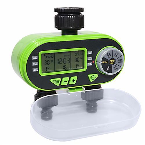 טיימר השקיה אלקטרוני כפול לגינה צג LCD דגם  21060