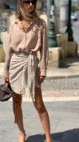 חצאית מעטפת מיני פסים