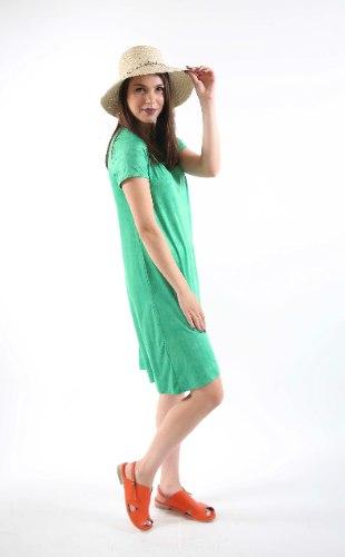 שמלת מנגו ירוקה