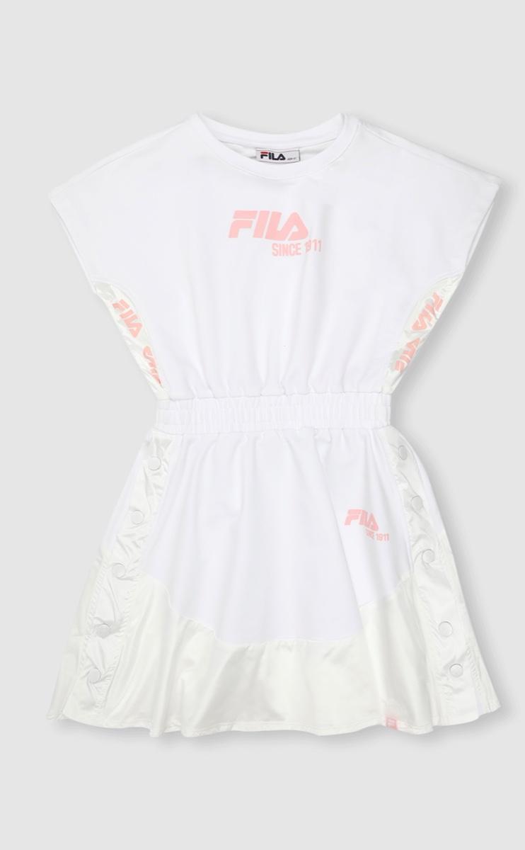 שמלת אופנה לבנה נערות מידות 6-16