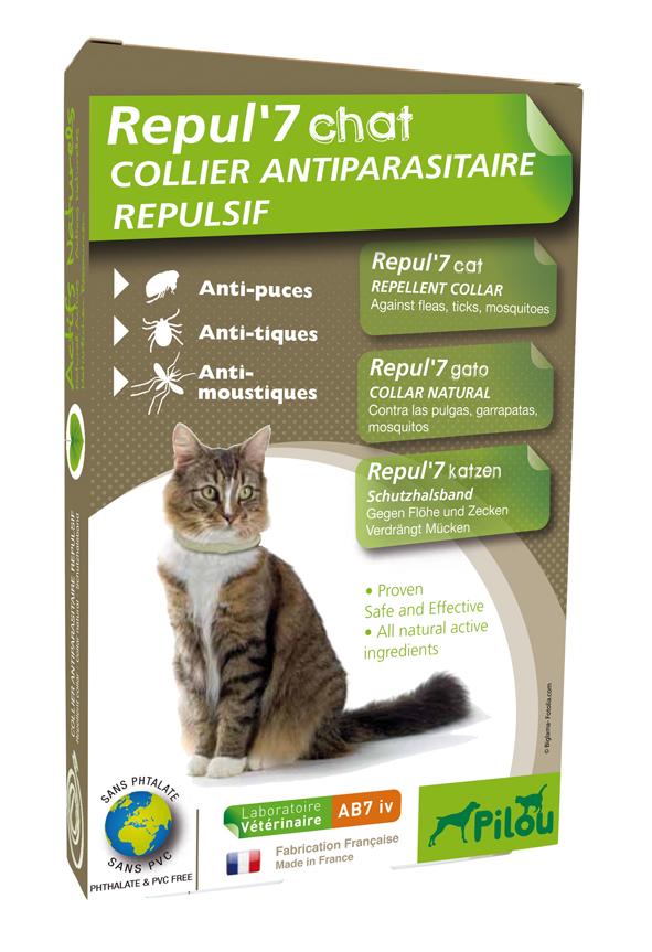 קולר נגד פרעושים וקרציות לחתולים בוגרים