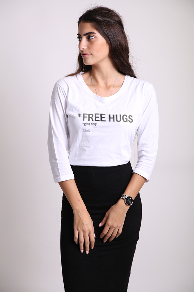 FREE HUGS *girls only שרוול 3/4