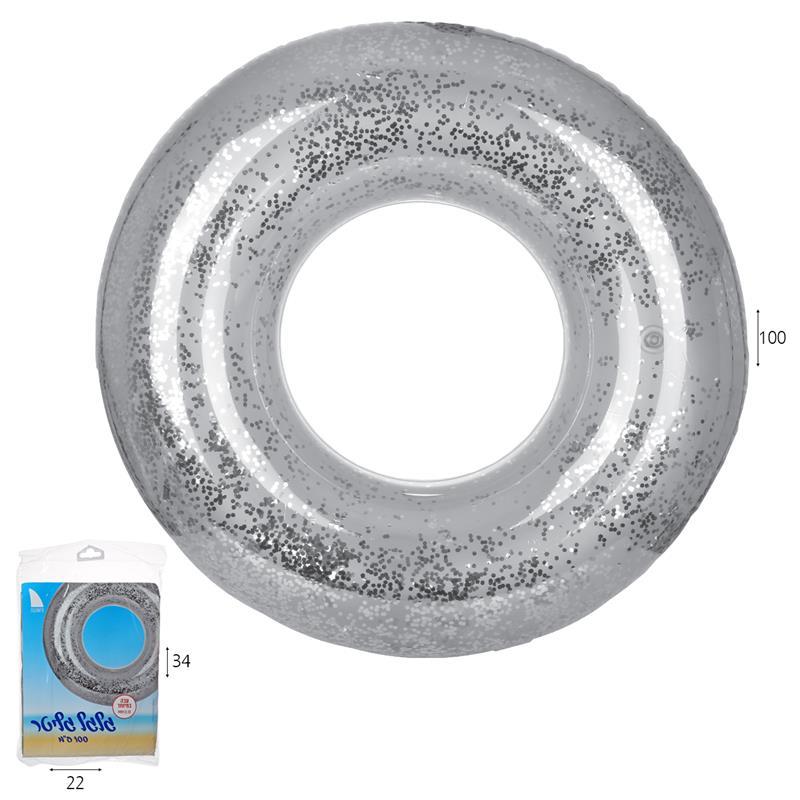 גלגל ים גליטר כסוף 100 סמ