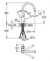 ברז מטבח גרואה סדרת קונצ'טו דגם 32663001