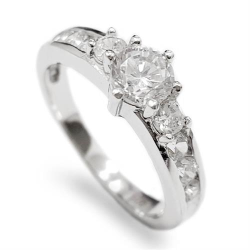 טבעת כסף משובצת אבני זרקון  RG5637 | תכשיטי כסף | טבעות כסף