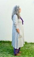 טוניקה מדגם קשת בצבע אפור מלאנז׳