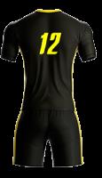 חליפת כדורגל שחור צהוב