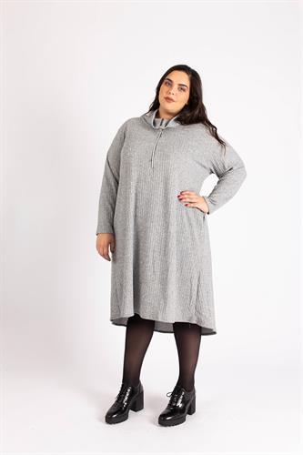 שמלת פריז ריב אפור
