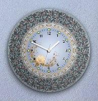 שעון קיר מעוצב, זכוכית אקרילית, דגם 2035  TIVA DESIGN