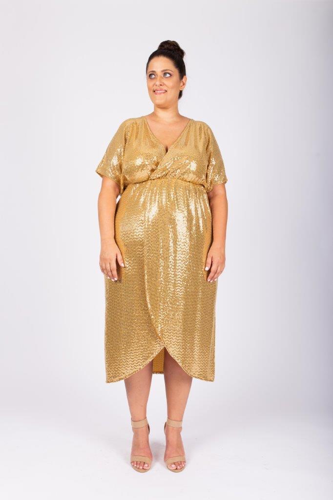 שמלת לורנה זהב
