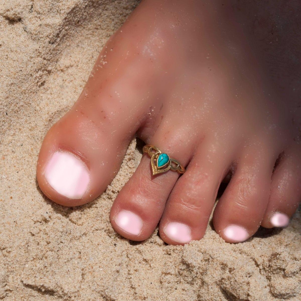 טבעת פתוחה עטרה טורקיז בראס