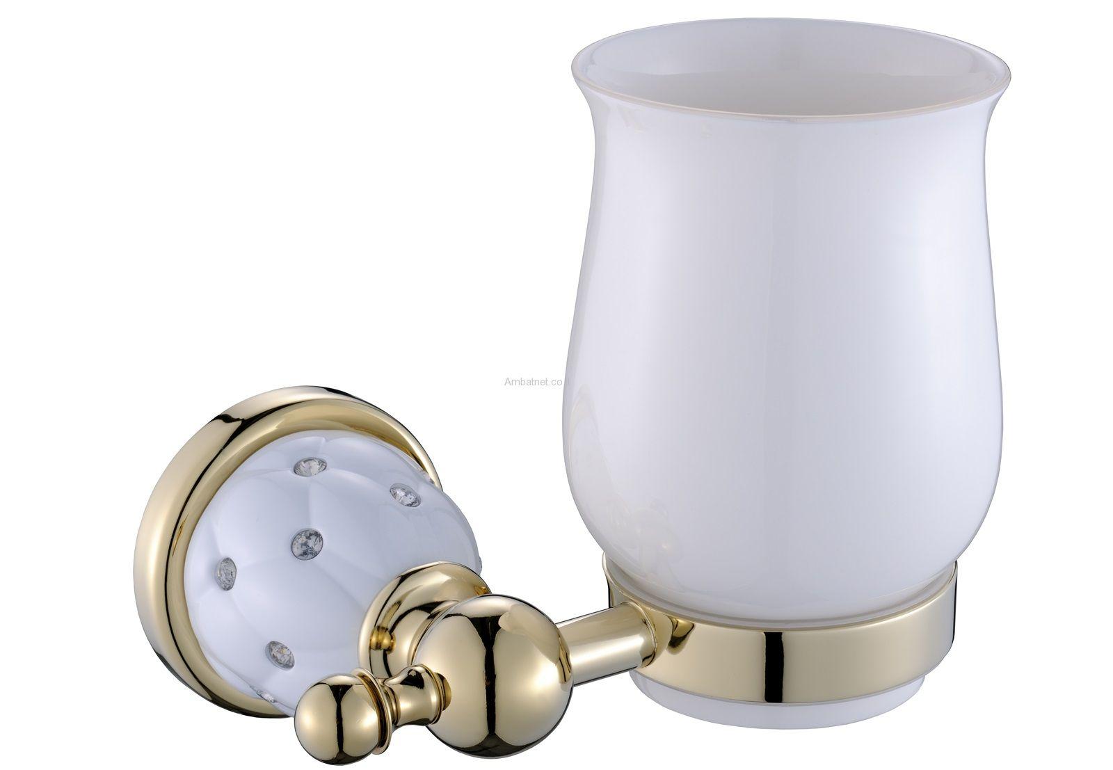 כוס למברשת שיניים דאימונד זהב