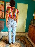ג'ינס כחול משופשף מידה S