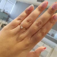 טבעת זהב 14K משובצת יהלומים 0.20 קראט