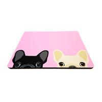 פד מעוצב לעכבר | משטח לעכבר מחשב דגם כלבים ורוד
