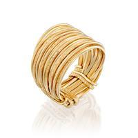 טבעת ספירלי חול צהוב
