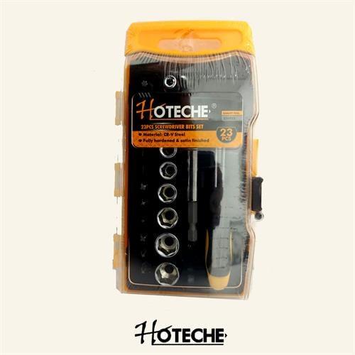 סט מברג בוקסה 1/4 הכולל 23 חלקים  מבית חברת HOTECHE