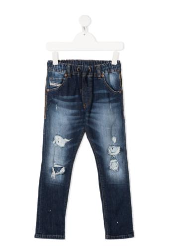 ג׳ינס ג׳וגר עם קרעים כחול כהה DIESEL בנים - 4-16 שנים
