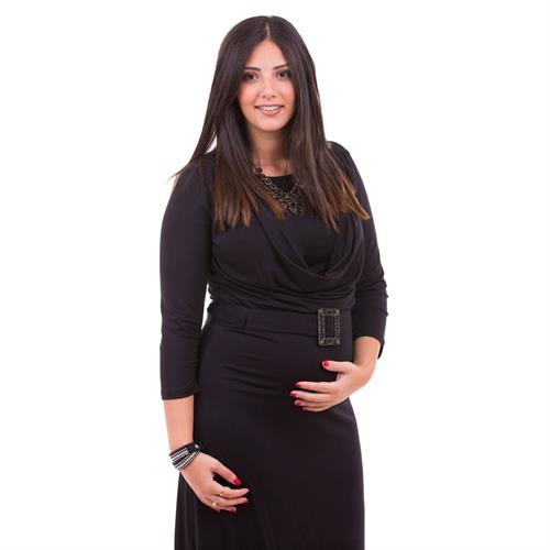 שמלת הריון רבידה שרוול 3/4 Nursing Anywear