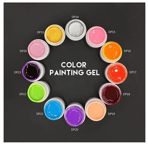 צבעי ג'ל 3D אקרילי UV מבית MONASI היוקרתי 36 גוונים לבחירה