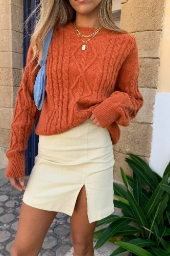 חצאית מיני לוסי פשתן