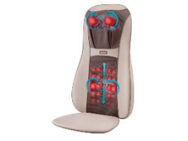 מושב עיסוי שיאצו עלית - מכשיר עיסוי חשמלי לגב Homedics MCS-840HA-IL