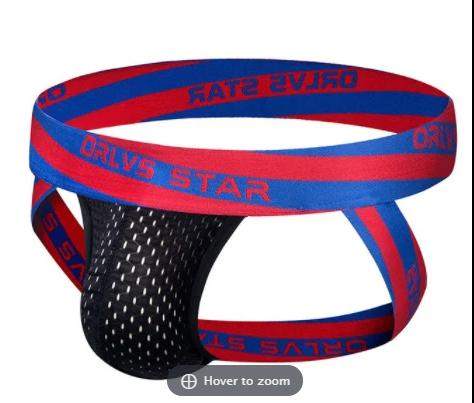 תחתון כחול אדום שחור רשת בגודל XL