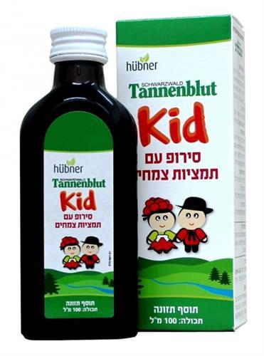 טננבלוט סירופ תמציות צמחים לילדים מגיל 4  Tannenblut