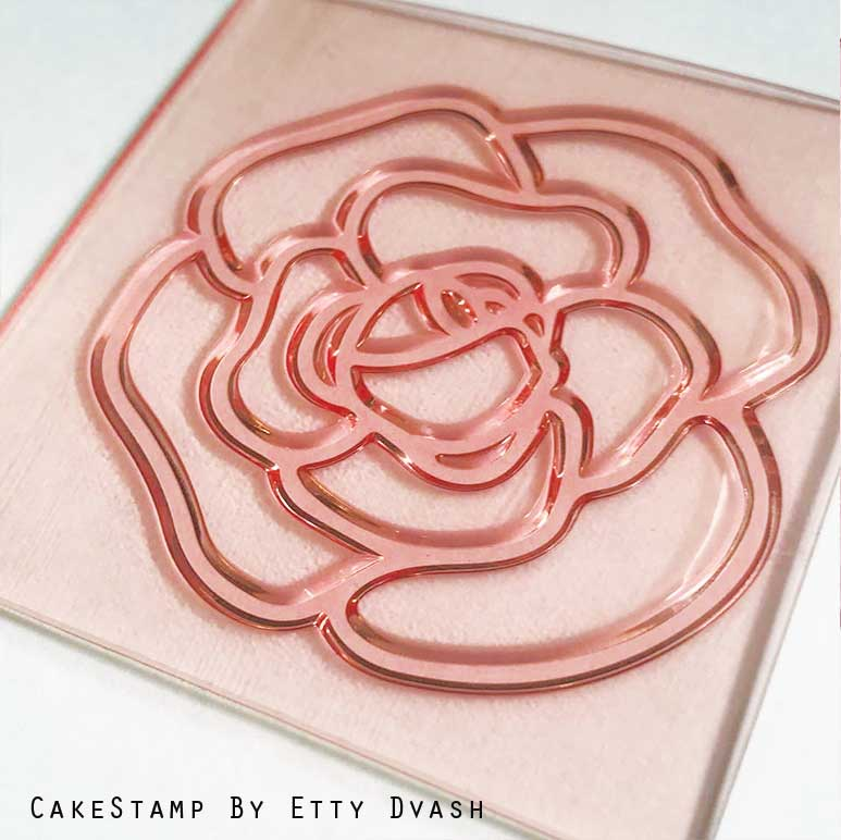 Chanel inspired  flower and logo - set of two stamps