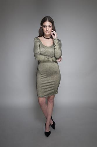 שמלה קארי זהב שחור