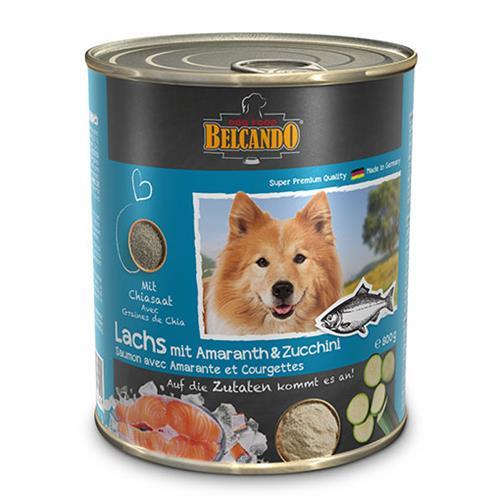 שימורי מזון כלבים בלקנדו – סלמון אמרנט+קישוא 800 גר'