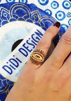 טבעת חותם עין לזרת