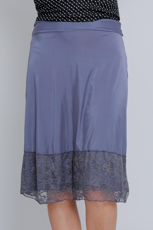 חצאית בסיס ארוכה סגול