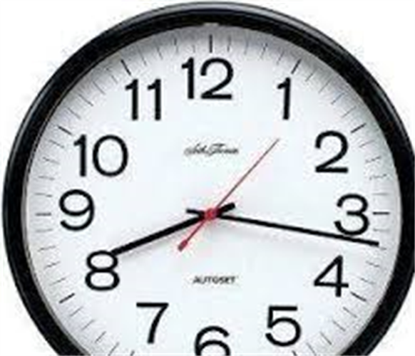 שעון קיר שקט גולף GOLF שחור