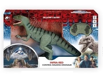 דינוזאור עם שלט אינפרא רד עם קולות וצלילים - ירוק