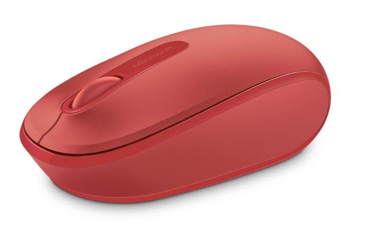 עכבר אלחוטי Microsoft Wireless Mobile Mouse 1850 מיקרוסופט - אדום