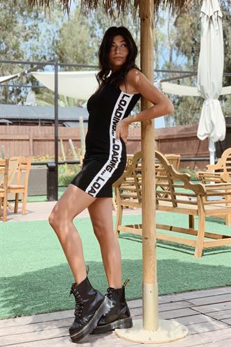 שמלת מיני LOADING שחורה