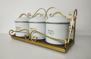 סט תה קפה סוכר - דגם לבן נקי - דוגמא