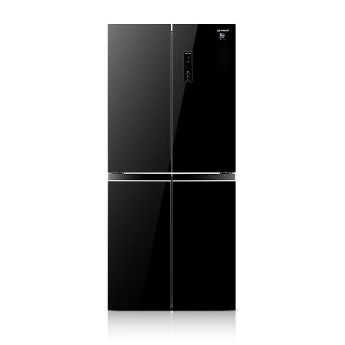 מקרר שרפ 4 דלתות SHARP SJ8435BL זכוכית בגוון שחור