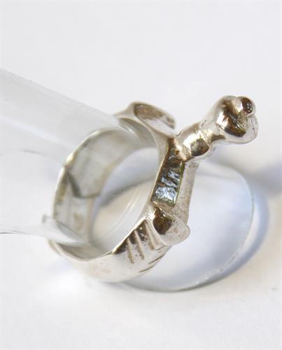 טבעת חותם עתיקה מהתקופה הרומית ביזנטית R113