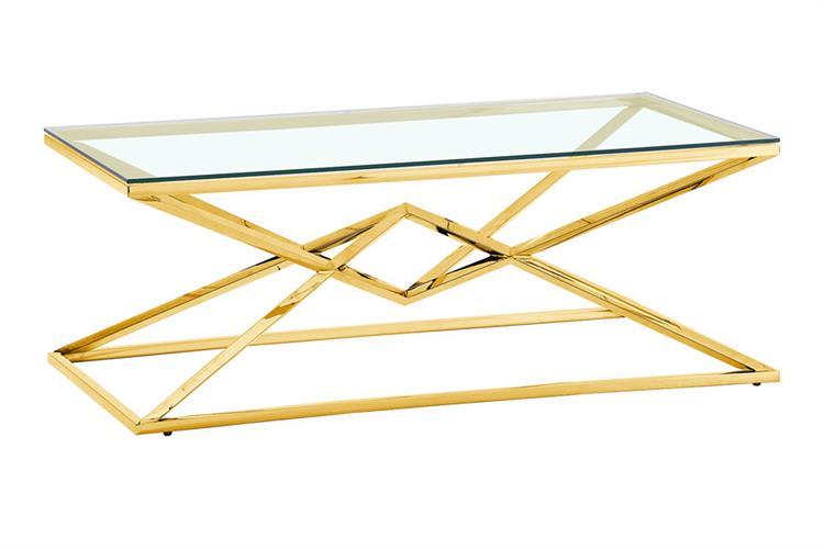 שולחן סלון GOLD  מגיע בצבע: GOLD מידות: 120X60X40