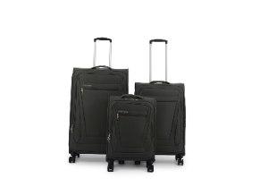 סט 3 מזוודות SWISS בד קלות וסופר איכותיות - צבע אפור