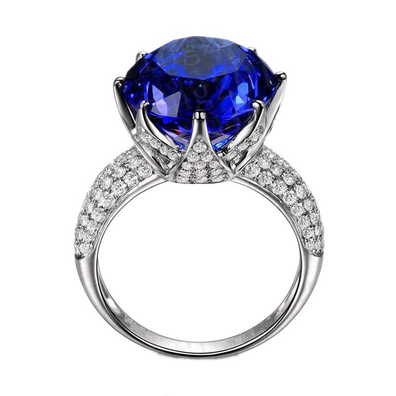 טבעת נשים מכסף טהור בציפוי רודיום 925 MY011700024IN